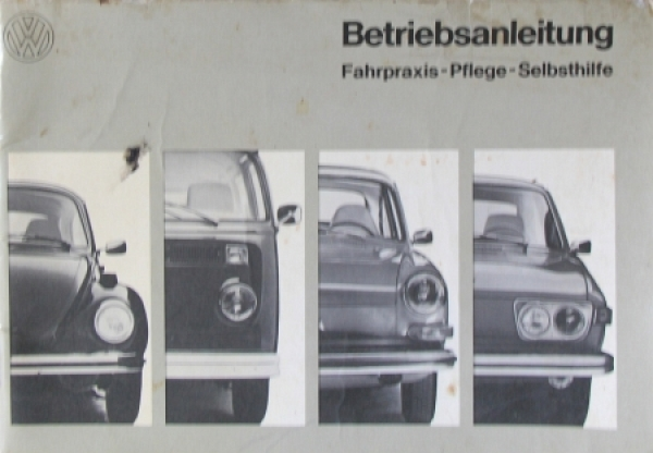 "Volkswagen ""Fahrpraxis - Pflege"" 1972 Betriebsanleitung"
