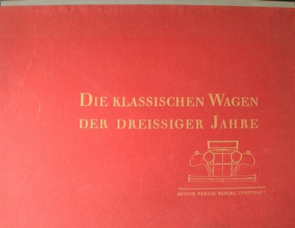 """""""Die klassischen Wagen der dreissiger Jahre"""" Fahrzeug-Historie 1961"""