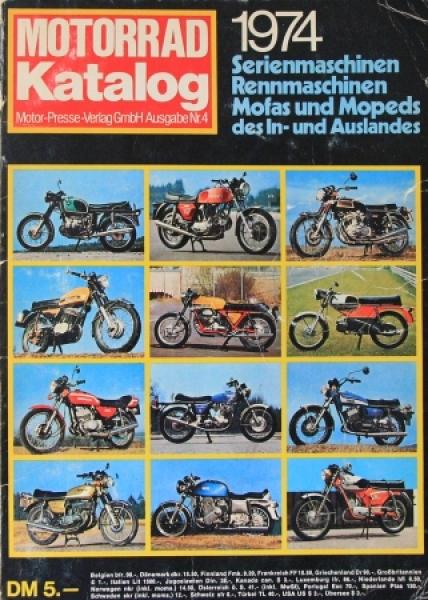 """Motorrad Katalog 74 - Serien- und Rennmaschinen"" Jahreskatalog 1974"