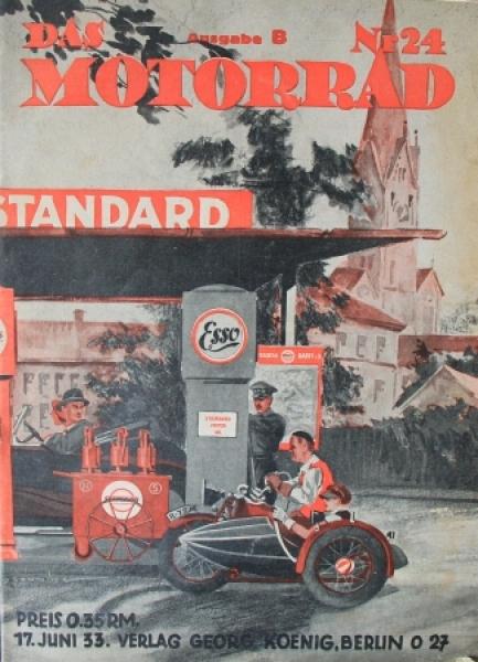 """""""Das Motorrad - Sport, Gesellschaft, Technik"""" Motorrad-Zeitschrift 1933"""