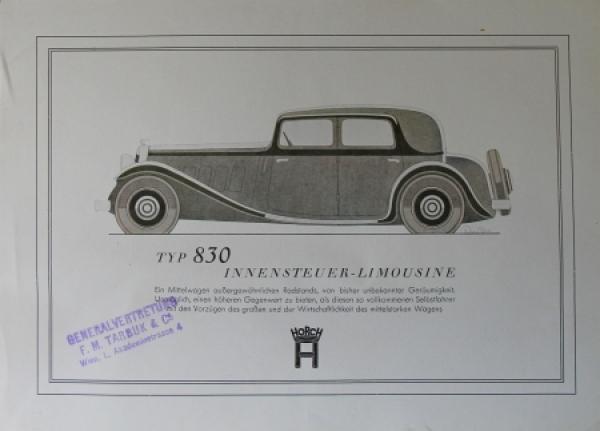 Horch Typ 830 Limousine 1933 Reuters-Motiv Automobilprospekt