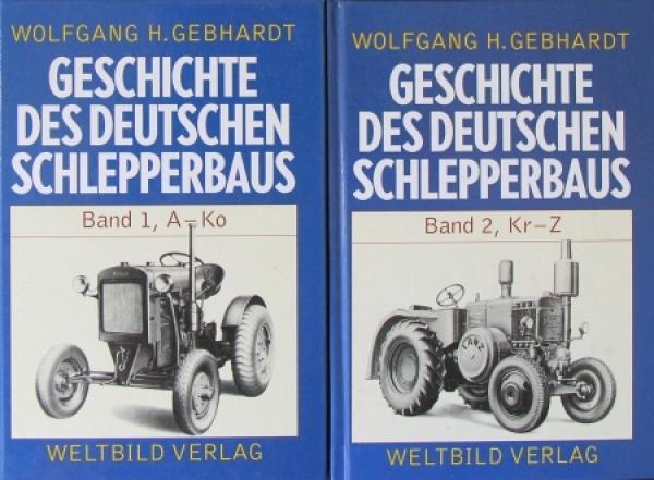 """Gebhardt """"Geschichte des deutschen Schlepperbaus"""" 2 Bände Traktor-Historie 1994"""