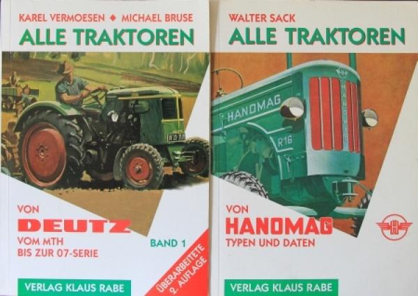 """Sack Vermoesen """"Alle Traktoren - Von Deutz bis Hanomag"""" 2 Bände Traktor-Historie 1996"""