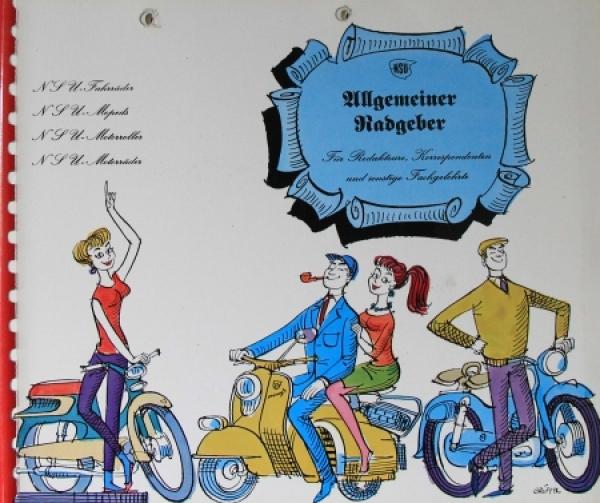 """NSU Motorräder """"Allgemeiner Radgeber für Redakteure"""" NSU Pressemappe 1959"""