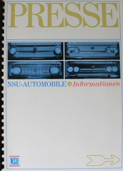 """NSU Automobile """"Presseinformationen"""" NSU Pressemappe 1967"""