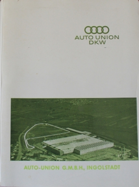 "DKW Auto-Union ""Modelle 1962"" Pressenappe 1962"