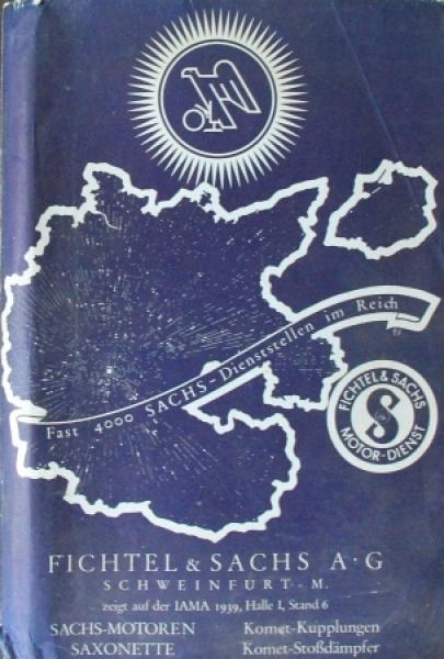 Fichtel & Sachs Pressemappe Saxonette, Motoren, Kupplungen 1936