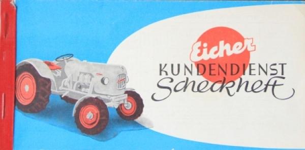 """Eiche Mammut """"Kundendienst Scheckheft"""" 1961 Traktorprospekt"""