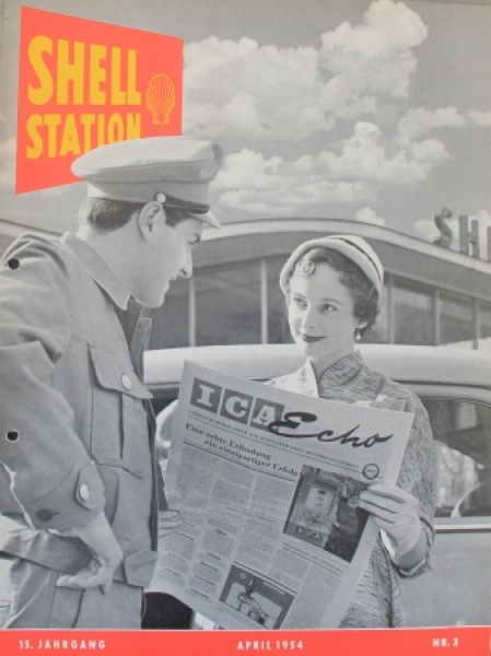 """Shell Station"" Tankstellen-Magazin 1954"