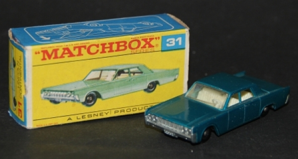 Matchbox Lesney Lincoln Continental 1964 Metallmodell in Originalbox