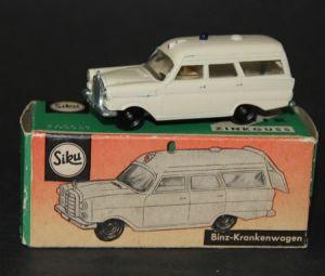 Siku Binz Krankenwagen V 233 Metallmodell 1964 in Originalbox