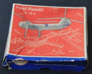 "Siku Vertol ""Piasecki YH-16 A US-Air Force"" F2a Flugzeugmodell-Originalkarton 1959"