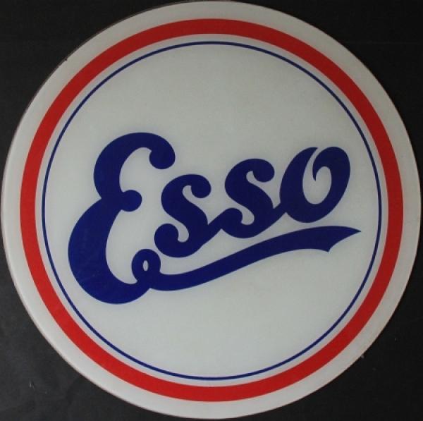 Esso Tanksäule-Glaseinsatz mit Logo 1935