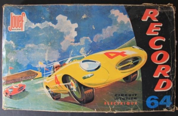 "Jouef ""Record 64 Circuit Prestige Electric"" Autorennbahn 1964 in Box"