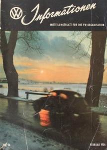 """""""Volkswagen Informationen"""" Mitteilungsblatt 1956 VW-Magazin"""