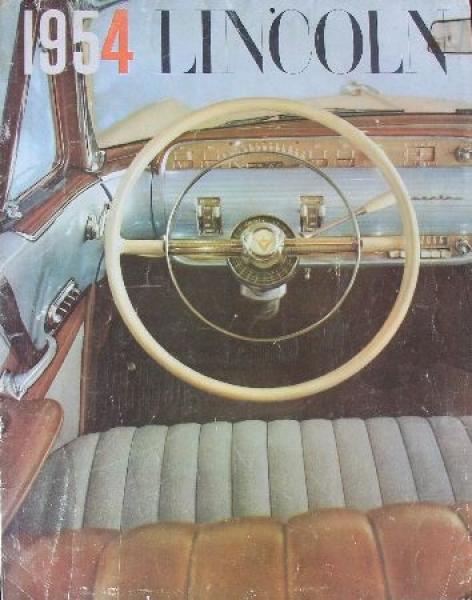 Lincoln Modellprogramm 1954 Automobilprospekt
