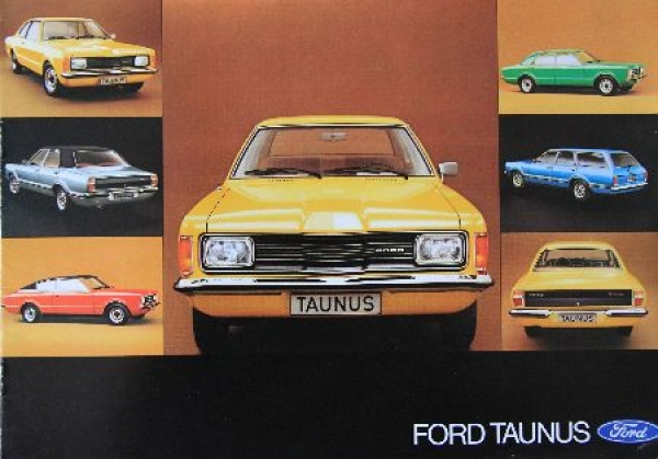 Ford Taunus Modellprogramm 1975 Automobilprospekt