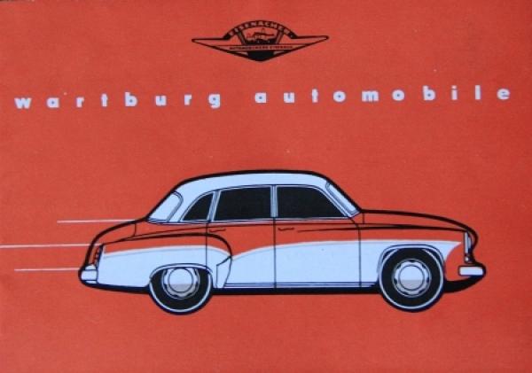 Wartburg Automobile Modellprogramm 1959 Automobilprospekt