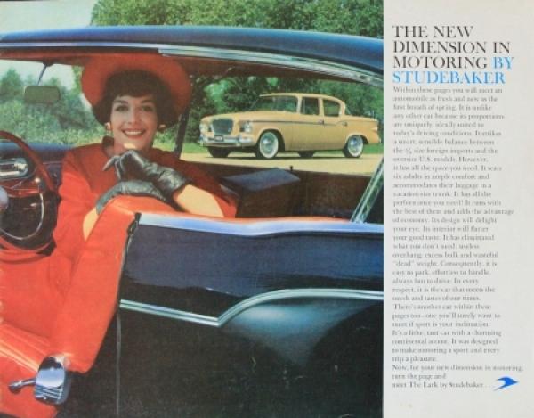 Studebaker Lark Modellprogramm 1959 Automobilprospekt