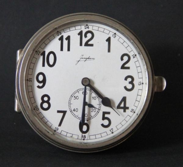 Junghans Autouhr J30D mit Sekundenzeiger 1930 verchromt