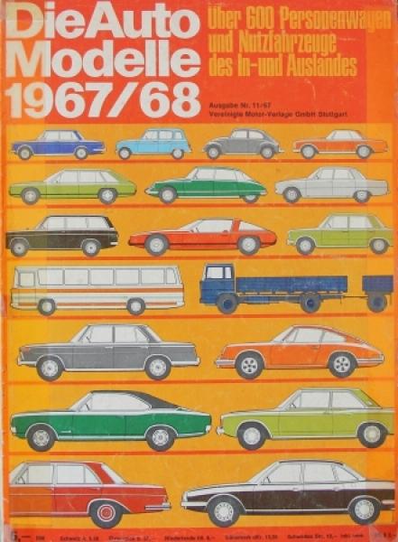 """Auto Modelle Katalog 1967/68"" Automobil-Jahrbuch"