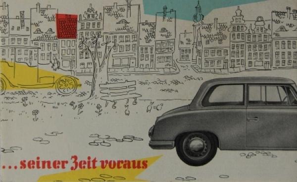 Trabant P 70 Zwickau 1956 Automobilprospekt