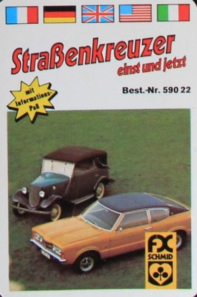 "Schmid Spiele ""Straßenkreuzer"" Kartenspiel 1974"
