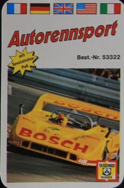 """Schmid Spiele """"Autorennsport"""" Kartenspiel 1972"""