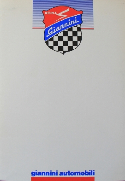 Giannini Pressemappe Modellprogramm 1988 Automobilprospekt