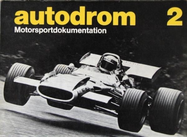 """Morenno """"Autodrom - Motorsportdokumentation 2"""" Motorrennsport-Saison 1970"""