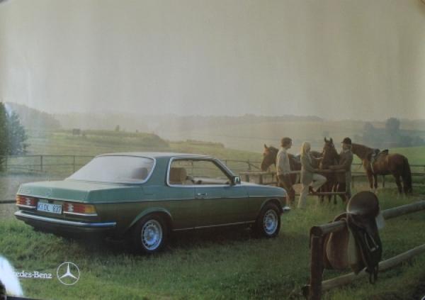 Mercedes-Benz 280 CE Coupe Original Werbeplakat 1982