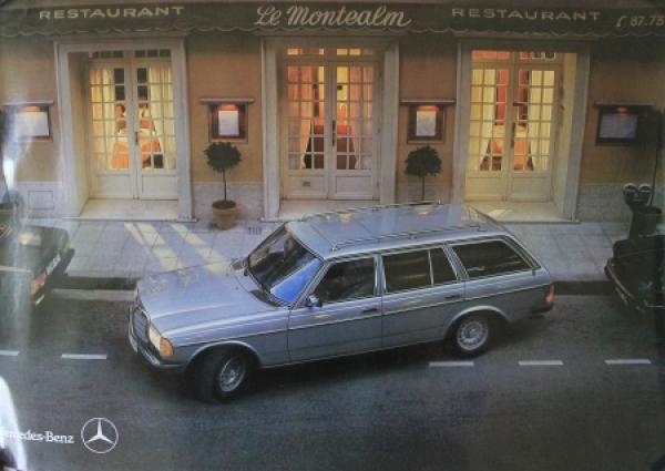Mercedes-Benz 280 T-Model Original Werbeplakat 1982