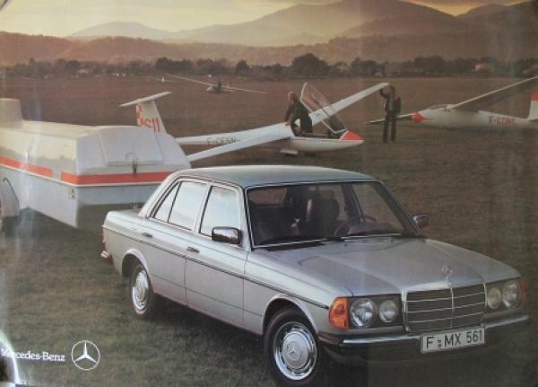 Mercedes-Benz 280 Original Werbeplakat 1982