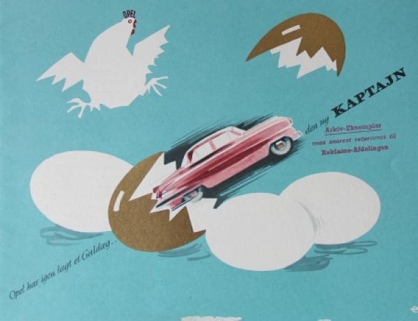Opel Kapitän Modellprogramm 1954 Automobilprospekt