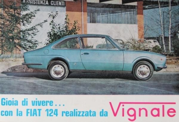 Vignale Fiat 124 Tipo Gran Lusso 1967 Automobilprospekt