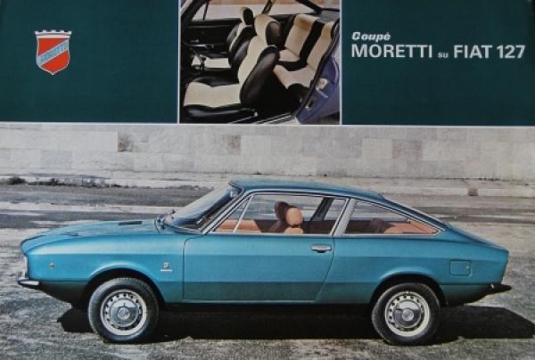 Moretti Fiat 127 Coupe 1969 Automobilprospekt