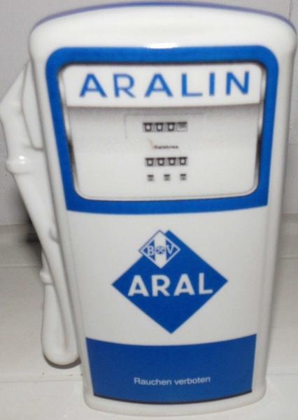 "BV Aral ""Aralin"" Seltmann Weiden Werbe-Spardose Porzellan 1980"