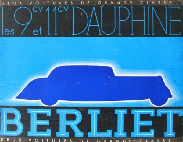Berliet 9CV Dauphine 1935 Automobilprospekt