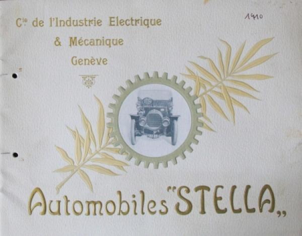 Stella Automobiles Modellprogramm 1910 Automobilprospekt