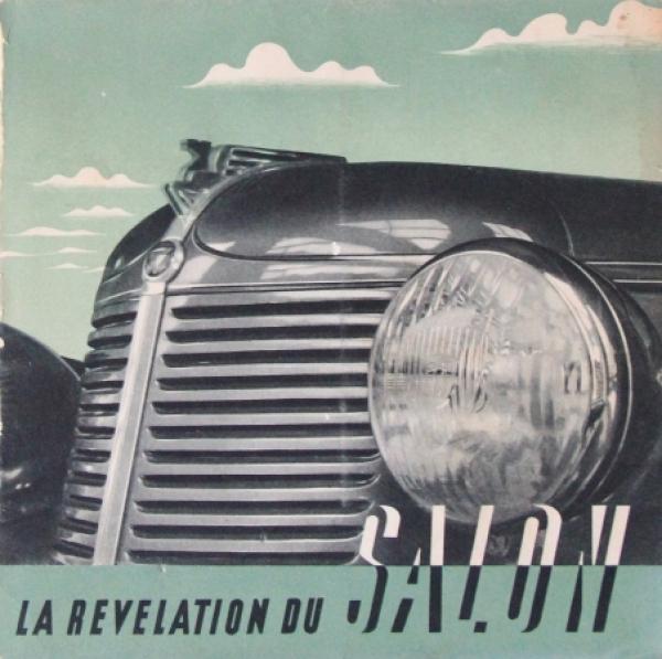 Amilcar Compound Modellprogramm 1939 Automobilprospekt