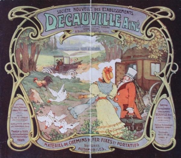 Decauville Aine Modellprogramm 1907 Automobilprospekt