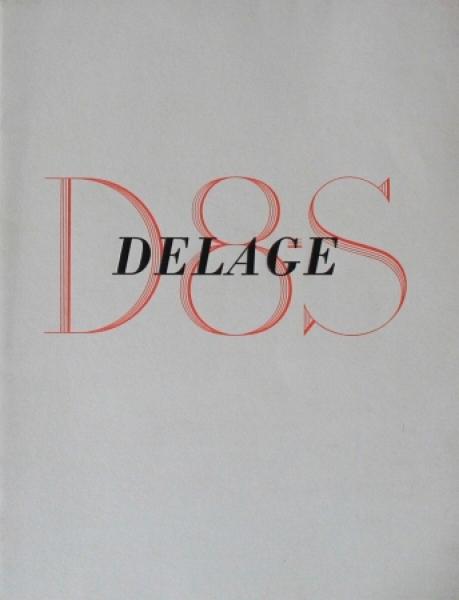 Delage D8 S Modellprogramm 1932 Automobilprospekt