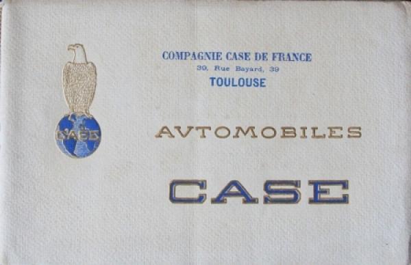 Case Torpedo Modellprogramm 1916 Automobilprospekt