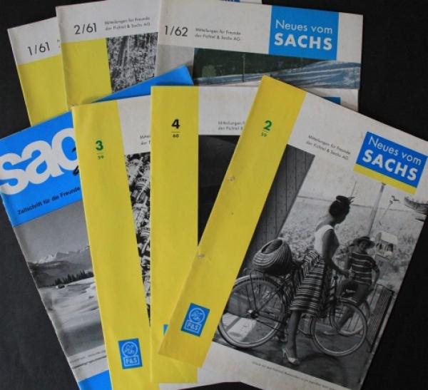 """""""Neues vom Sachs"""" Fichtel+Sachs Magazin 7 Ausgaben 1959/61"""