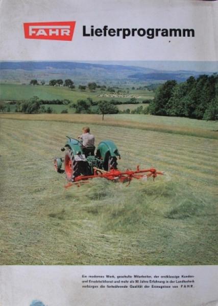 Fahr Lieferprogramm 1962 Traktorprospekt