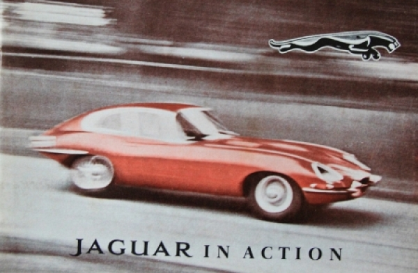 "Jaguar Modellprogramm ""Jaguar in Action"" 1967 Automobilprospekt"