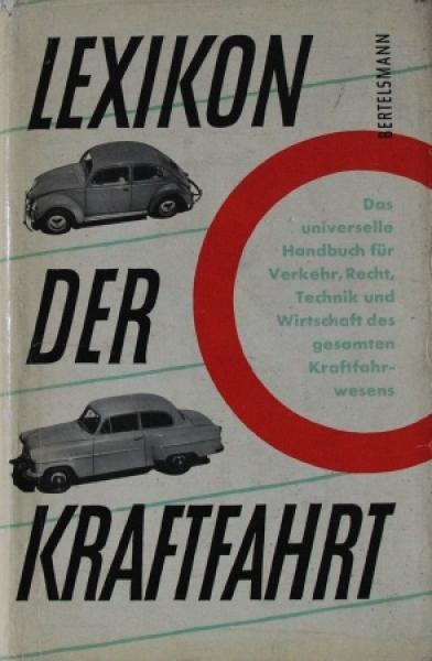 """Bertelsmann """"Lexikon der Kraftfahrt"""" Technisches Handbuch 1953"""