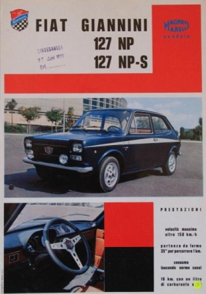 Giannini Carrozzeria Typo 127-128 NP zwei Automobilprospekte 1972
