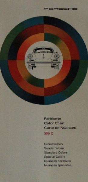 Porsche 365 C Farbkarte 1964 Automobilprospekt