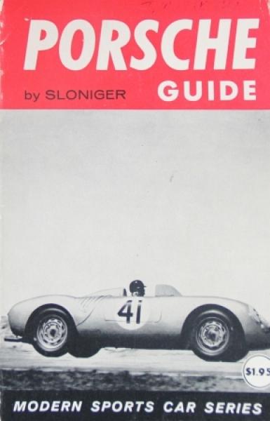 """Sloniger """"Porsche Guide"""" Porsche-Historie 1958"""
